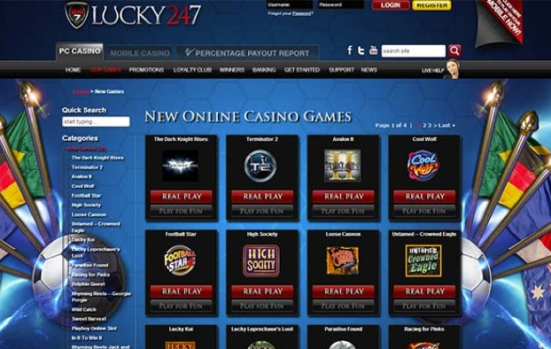 lucky247 - Games Selection